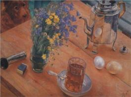 """Morning Still Life"" (1918, oil on canvas)"