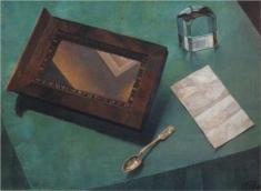 """Still Life with Mirror"" (1919, oil on canvas)"