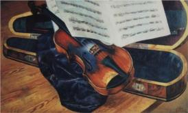 """Violin"" (1916, oil on canvas)"