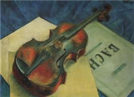"""Violin"" (1921, oil on canvas)"