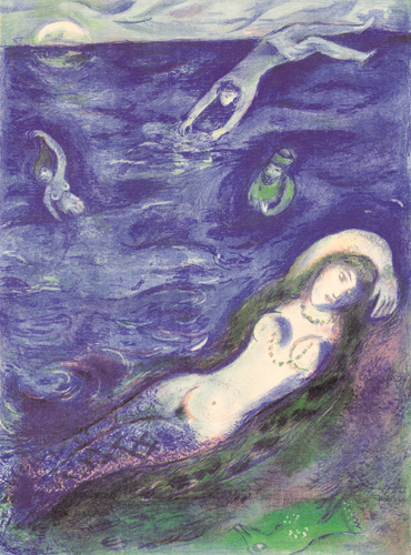 """So I Came forth of the Sea"" (1948, illustration)by Marc Chagall"