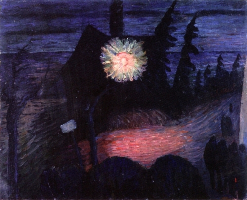 Marianne von Werefkin House with Lantern c1913 tempera on cardboard