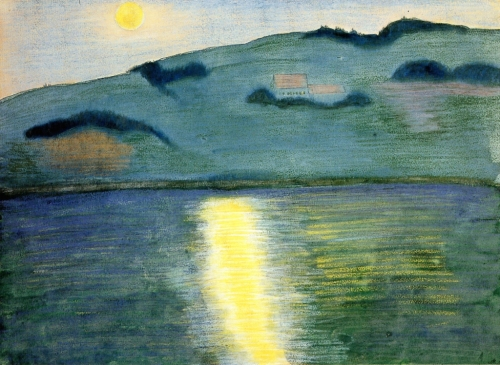 Marianne von Werefkin Moonlit Landscape 1907 mixed media on cardboard