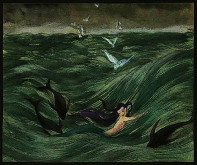 """""""Siren""""(1941, illustrationby Kay Nielsen"""