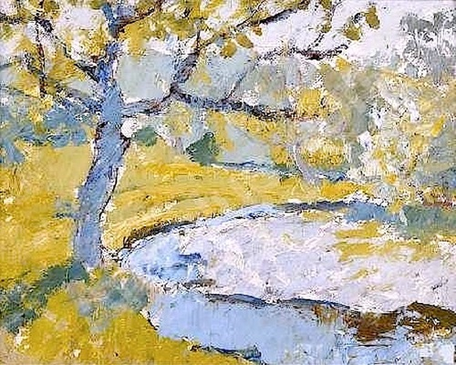 Anne Redpath A Borders River Landscape, Lyon and Turnbull, Edinburgh