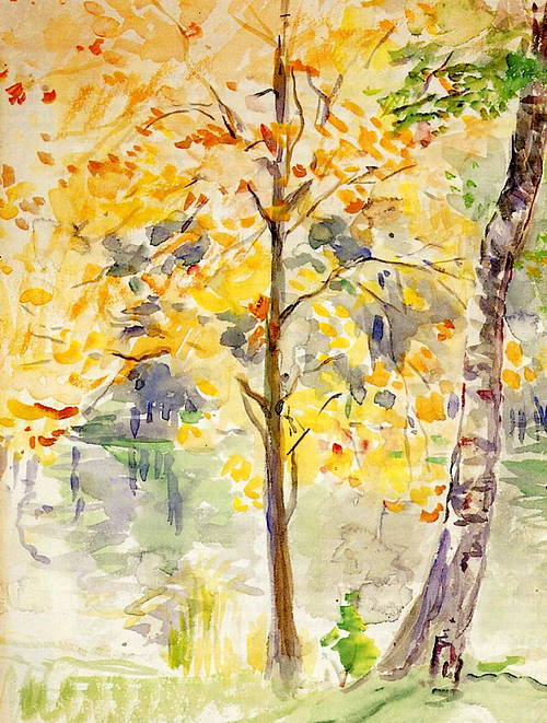 Berthe Morisot Fall Colors in the Bois de Boulogne 1888