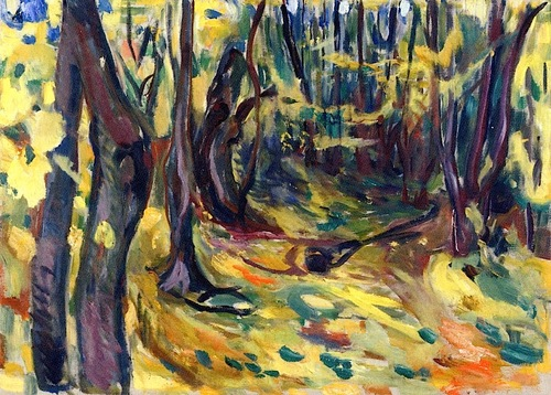 Edvard Munch Elm Forest in Autumn 1919-20