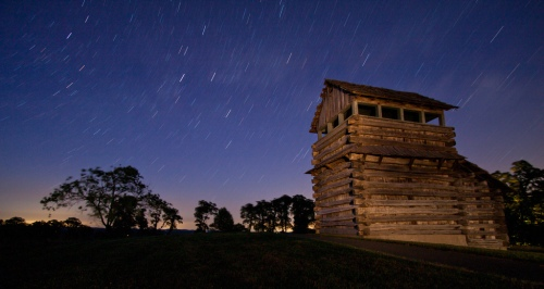 Star Trails on Blue Ridge Parkway, Milepost 188 by krishna_kumar_1 FCC