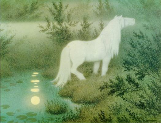 Theodor Kittelsen Nøkken_som_hvit_hest The Nix as a white horse 1909