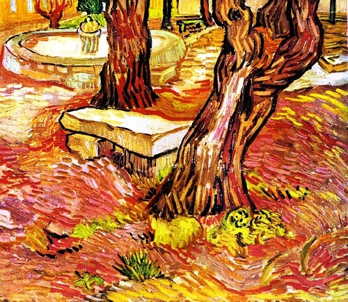 Vincent van Gogh The Stone Bench in the Garden at Saint-Paul Hospital 1889