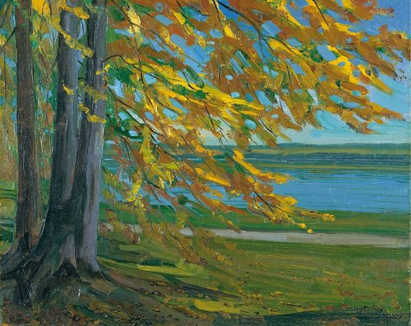 Wilhelm Trübner Der Starnberger See 1911 oil on canvas