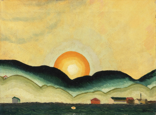 Arthur Dove Sunrise, Northport Harbor 1924