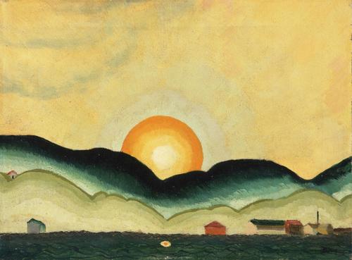 Arthur Dove Sunrise, Northport Harbor 1924