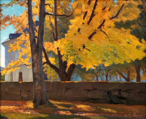 Gustaf Ankarcrona September sun, Leksand 1908