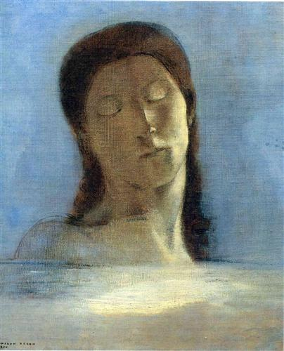Odilon Redon Closed Eyes 1890 oil on canvas