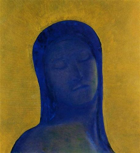 Odilon Redon Closed Eyes c1894 oil on canvas