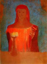 """Lady Macbeth"" (c1898, pastel on paper)by Odilon Redon"
