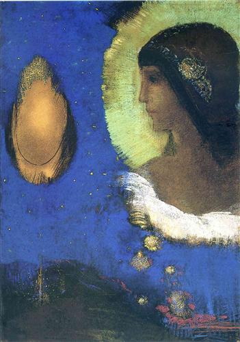 """""""Sita"""" (1893, pastel over charcoals on paper)by Odilon Redon"""