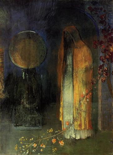 Odilon Redon The Yellow Cape 1895 pastel on paper