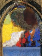 """Woman in Profile under a Gothic Arch"" (nd)by Odilon Redon"