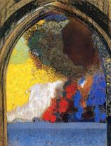 """""""Woman in Profile under a Gothic Arch"""" (nd)by Odilon Redon"""