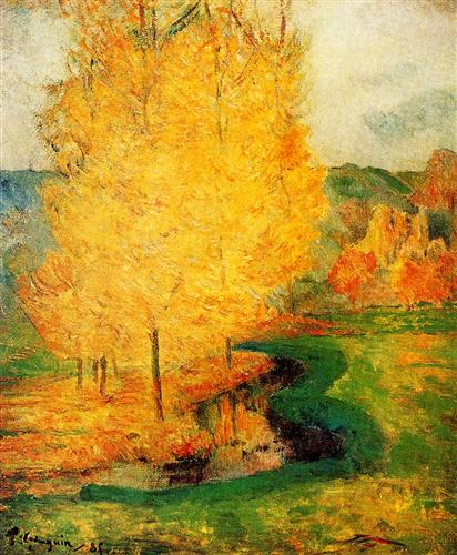 Paul Gauguin By the Stream, Autumn 1885 oil on canvas