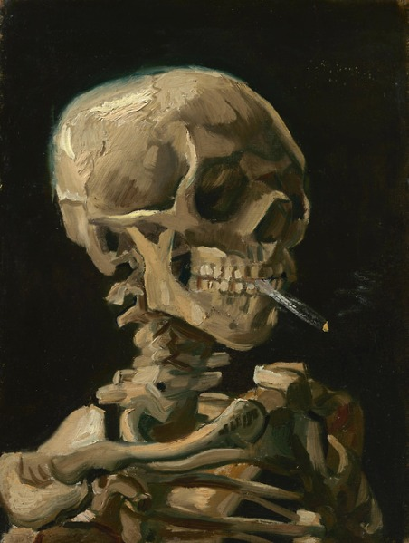 Vincent van Gogh Head of a Skeleton 1886