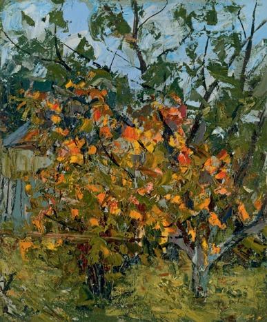 """""""Autumn Garden"""" (1965)by Alexander Petrovich"""