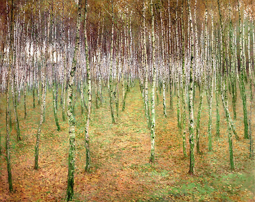Antonín Slavíček - Birch Wood 1897 oil on canvas