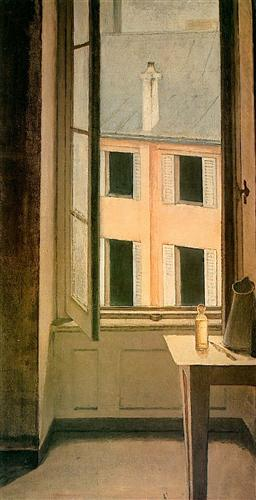 Balthus Window, Cour de Rohan 1951 oil on canvas