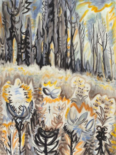 Charles Burchfield Autumn Flowers c1955-60 watercolor on paper