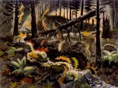 ":Autumn Leaves at Play"" (1950-59, watercolor on paper)by Charles Burchfield"