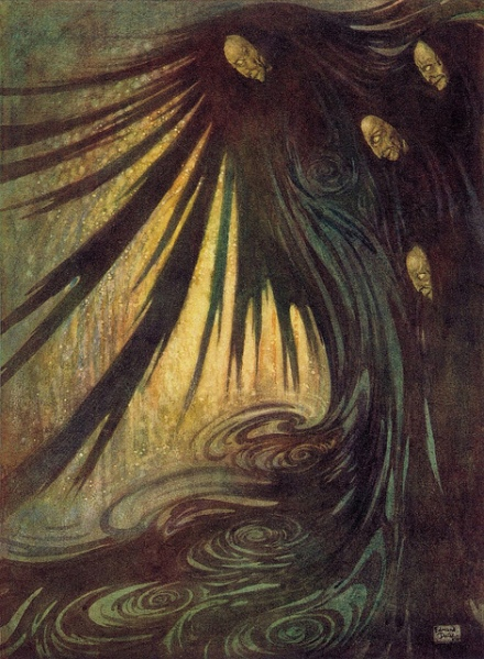 Edmund Dulac The Haunted Palace from The Bells and Other Poems 1912