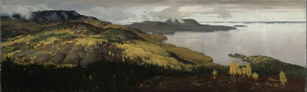 Eero Järnefelt Autumn Landscape of Lake Pielisjärvi 1899 oil on canvas