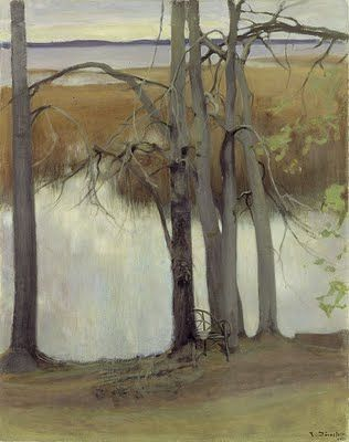 Eero Järnefelt Lakeshore with Reeds 1905 oil on canvas