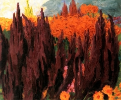 """Love Lies Bleeding"" (1939, oil on canvas)by Emil Nolde"