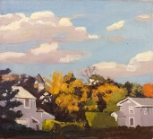 """Autumn 2"" (1967)by Fairfield Porter"