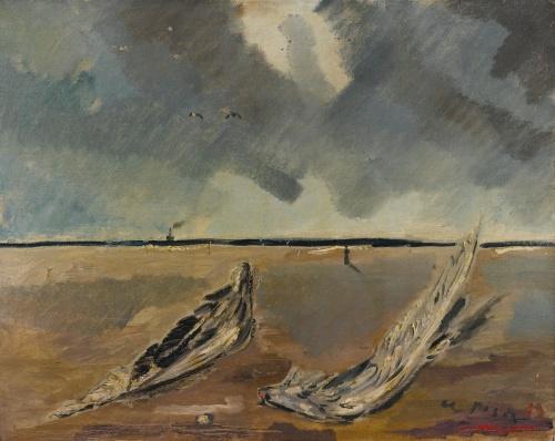 Filippo De Pisis Natura Morta Marina con Ali di Gabbiano 1929 oil on canvas