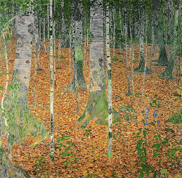 Gustav Klimt The Birch Wood 1903 oil on canvas