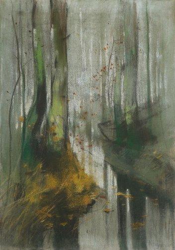"""""""Morgenstimmung im wildpark"""" (1848, pastel on canvas)"""
