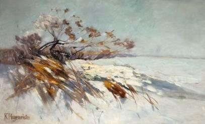 """""""Am Schwielowsee im winter um"""" (1895)"""