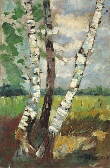 """""""Birken"""" (1880, oil on canvas)"""