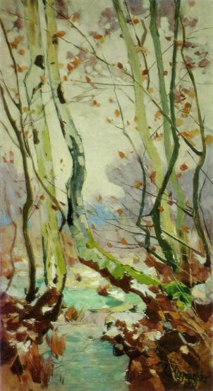 """""""Küste mit Buche"""" (1913, oil on canvas)"""