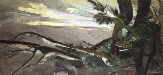 """""""Kiefern im Schnee"""" (1910, oil on canvas)"""
