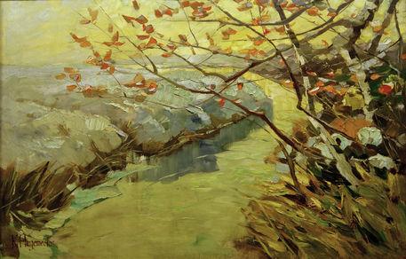 """Letztes Laub"" (1908, oil on canvas)"