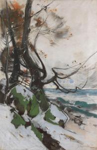 """""""Werder an der Havel"""" (1933, gouache and pastel chalk)"""