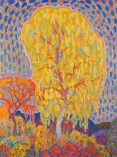 """Autumn Tree (Herfstboom)(1911, oil on canvas)by Leo Gestel"