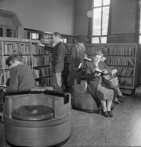 Leyton Public Library, Leytonstone, London, UK 1944 WC
