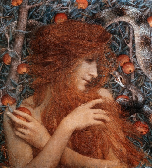 Lucien Lévy-Dhurmer Eve 1896 Pastel and gouache with gold