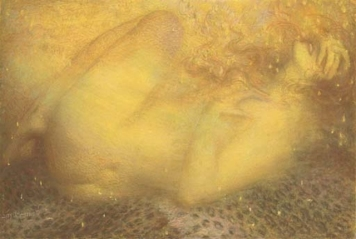 """Danaë"" (nd, pastel paper laid on board)"